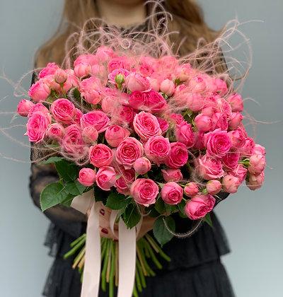 Монобукет из кустовой розы Мими Эден