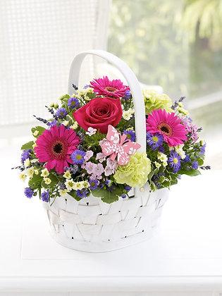 Корзины цветов 15