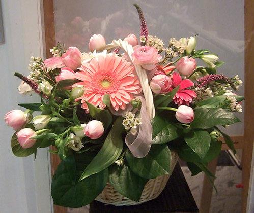 Корзины цветов 36