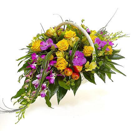 Корзины цветов 21