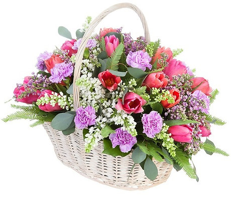 Корзины цветов 18