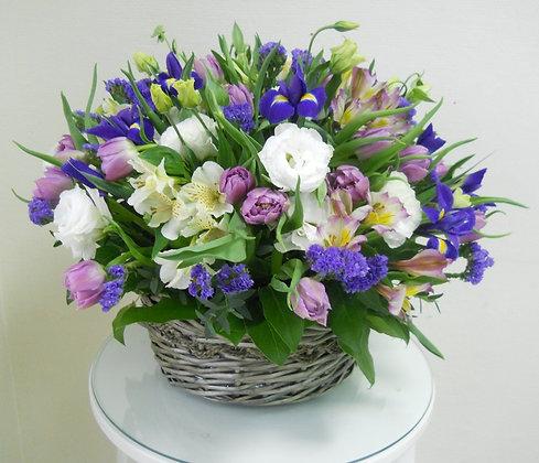 Корзины цветов 19