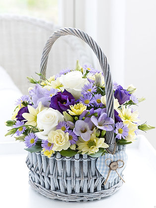 Корзины цветов 14