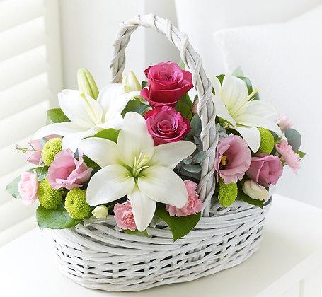 Корзины цветов 07