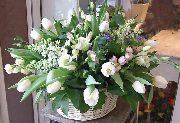 Корзины цветов 02