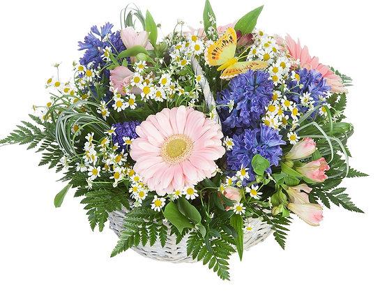 Корзины цветов 13