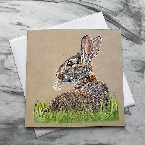 Clover the Hare Greetings Card