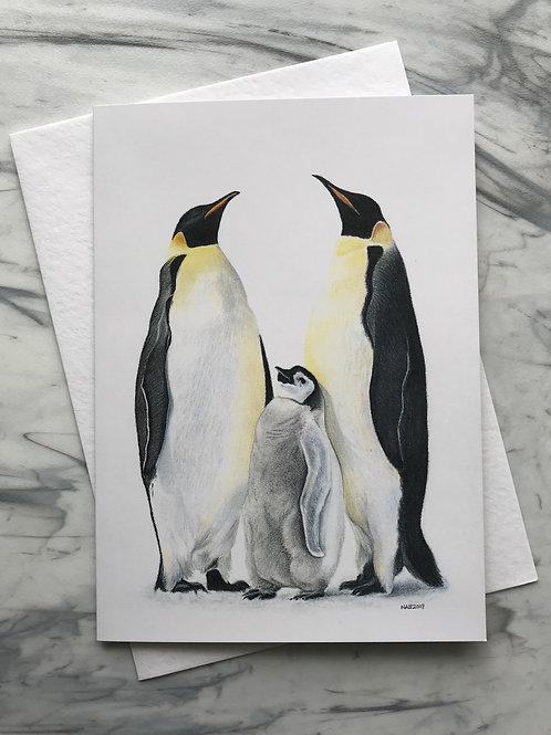 Penguin Family Greetings Card