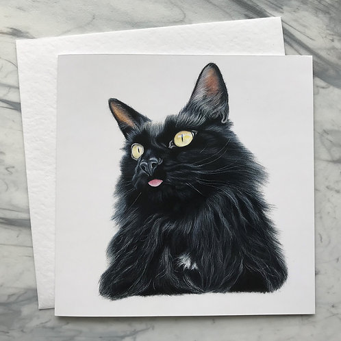Cheese the Cat Greetings Card