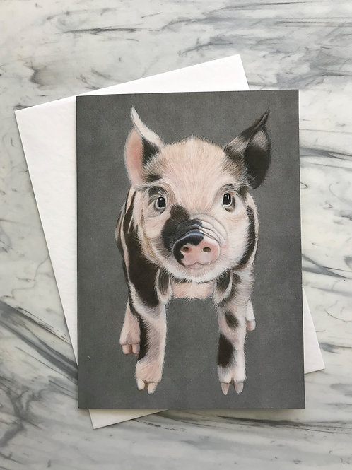 Piglet Greetings Card