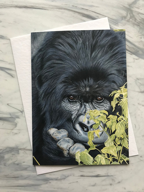 Peek-a-boo Gorilla Greetings Card
