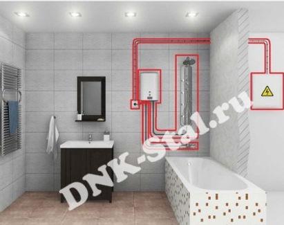 Монтаж проточных водонагревателей
