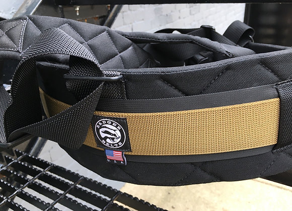 XL Black/Coyote Contoured Belt w/ Suspenders
