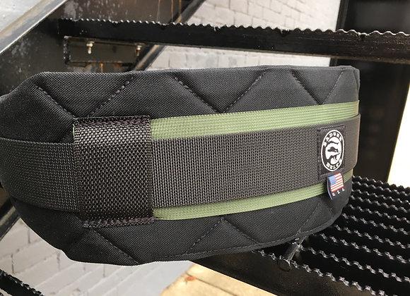 XL Black/Green Contoured Belt