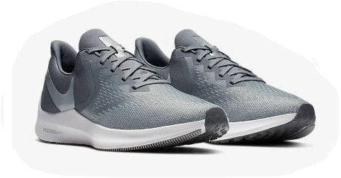 Nike AQ7497 002 Zoom Winflo 6 Running Shoes Men's Grey/Platinum