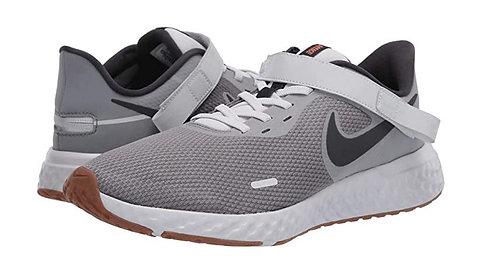 Nike CQ4649 090 Revolution 5 Flyease (GS) Sneakers Boy's Grey