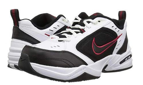 Nike 416355 101 Air Monarch IV Wide (4E) Athletic Shoes Men's White/Black/Red
