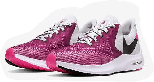 Nike AQ8228 602 Zoom Winflo 6 Running Shoes Women's Berry/Grey