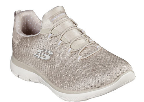 Skechers 149149W/TPE Summits Polka Dance Taupe Womens