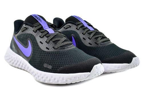 Nike CD6840 041 Revolution 5 Glitter (GS) Athletic Shoes Girl's Black/Sapphire