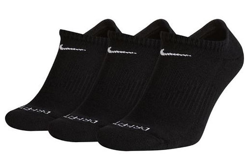 Nike SX6889-010 Everyday Plus Cushion No-Show Socks 3 Pack Unisex Black
