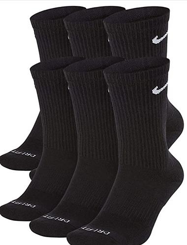 Nike SX6897-010 Everyday Plus Crew Socks Black XL