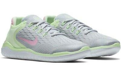 Nike AH3457 002 Free RN 2018 (GS) Running Shoes Girl's Grey/Pink