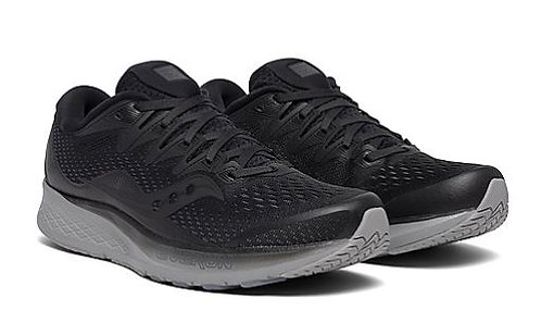 Saucony S20514-35 Ride ISO 2 Running Shoes Men's Black/Grey