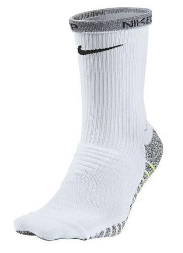 Nike SX5752-100 Grip Lightweight Crew Socks 1 pair Men's White/Volt