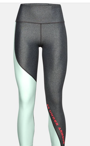 Under Armour 1356385 019 Leggings Womens Gray/Mint