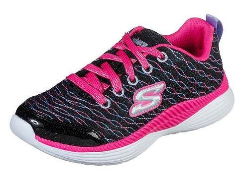 Skechers 83016L/BKNP Glimmer Racer Sneakers Girl's Black/Neon Pink