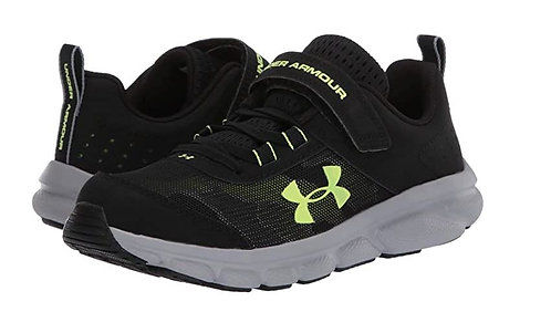 Under Armour 3022101-002 PS Assert 8 AC Athletic Shoes Boy's Black/Green