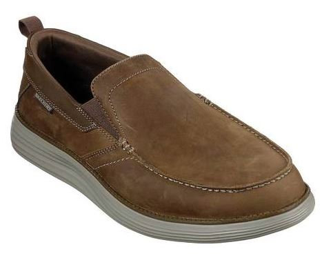 Skechers 66150/DSCH Status 2.0-Targo Slip On Shoes Mens Desert