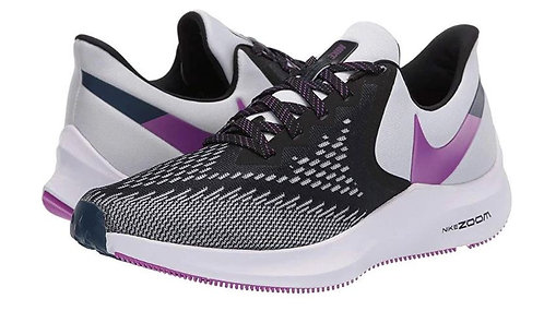 Nike AQ8228 006 Zoom Winflo 6 Running Shoes Women's Black/Purple