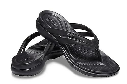 Crocs 205797-060 Basic Strappy Flip Flop Black