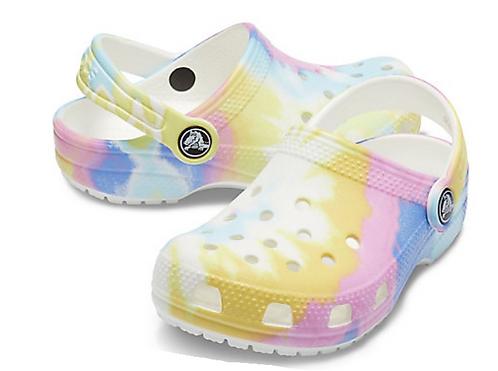 Crocs 205451-94S Classic Tie Dye Graphic Clog Kids