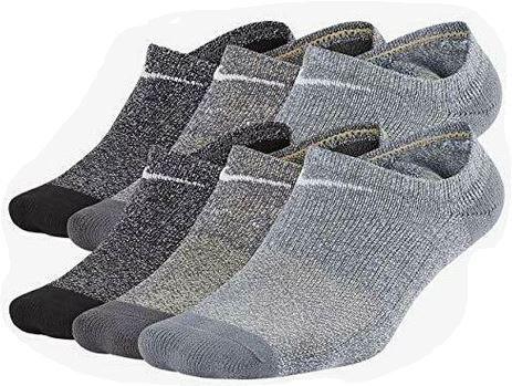 Nike SX7165-922 Performance Cushion No-Show Socks 6 Pack Kid's Greys