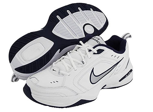 Nike 415445 102 Air Monarch IV Athletic Shoes Men's White/Navy