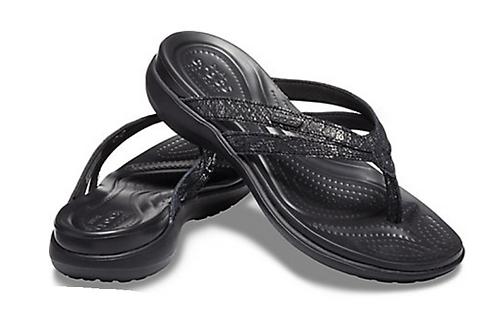 Crocs 205478-060 Capri Strappy Flip Black/Black