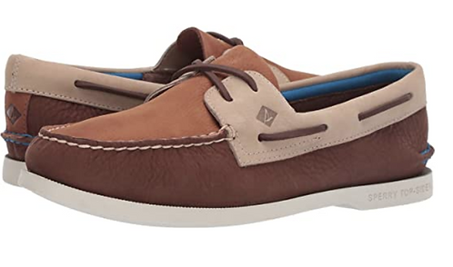 Sperry STS19267 A/O 2 Eye Plush Casual Mens Brown/Tan