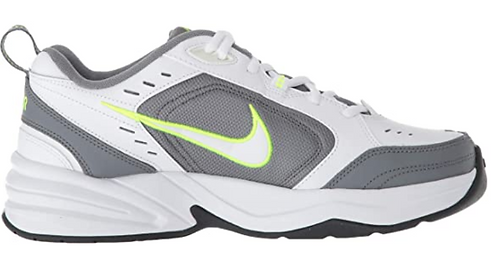 Nike 415445 100 Air Monarch IV White/Grey/Volt Mens