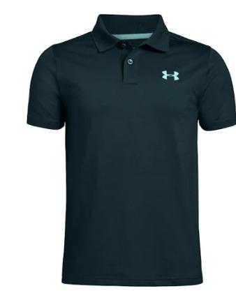 Under Armour 1342083 001 Polo Shirt Black Youth Boy