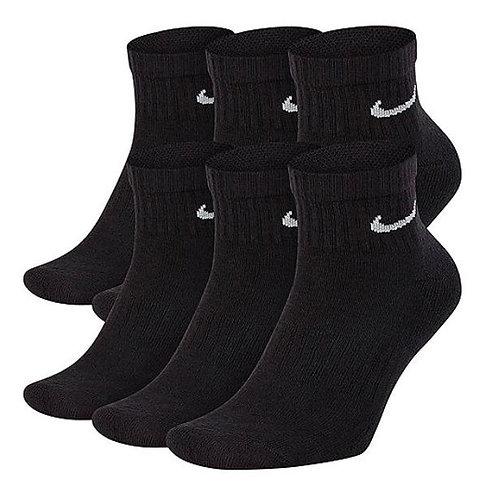Nike SX7669-010 Everyday Cushioned Ankle Socks 6 Pack Unisex Black/White
