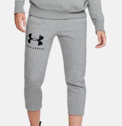 Under Armour 1348547 035 Gray Crop Pants Womens