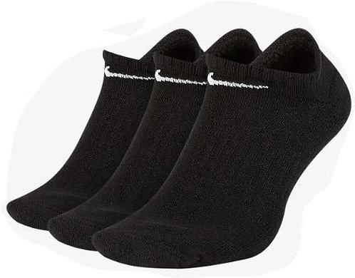 Nike SX7673-010 Everyday Cushion No-Show Socks 3 Pack Unisex Black/White