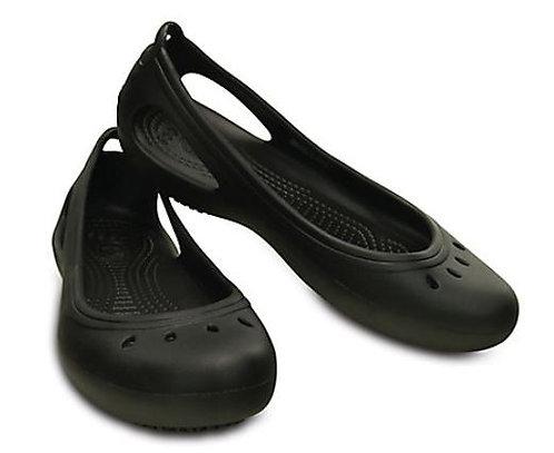 Crocs 200974-001 Kadee Work Slip Resistant Flats Women's Black