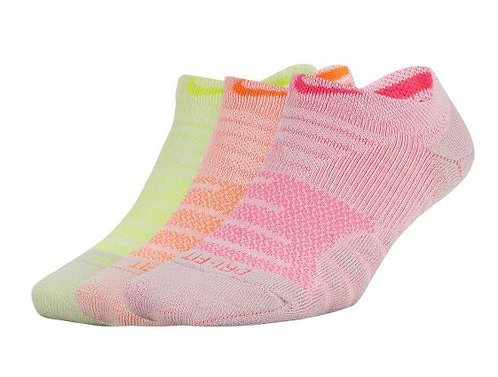 Nike SX5571-956 Everyday Max Cushion No-Show Socks 3 Pack Women's Multi