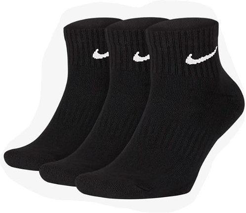 Nike SX7667-010 Everyday Cushioned Ankle Socks 3 Pack Unisex Black/White