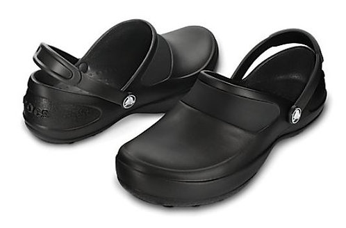 Crocs 10876-060 Mercy Work Slip Resistant Clogs Women's Black
