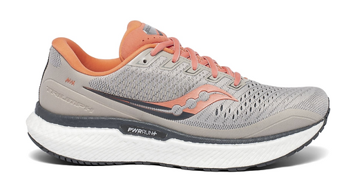 Saucony S10596-30 Triumph 18 Moonrock/Coral Womens WIDE